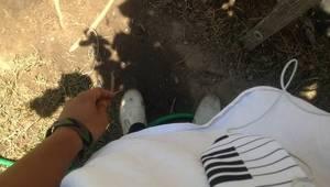 Drum-beaten feet