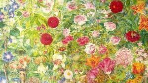 Жінка, що малює квіти. Присвята Катерині Білокур